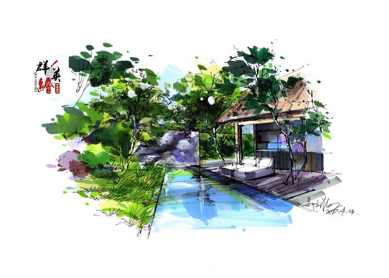 首页 作品展示 园林景观手绘作品  住宅景观小景表现-教师作品 上一页